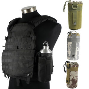 2.5L Tactical Molle Water Bottle Bag Military Hiking Belt Holder Kettle Pouch