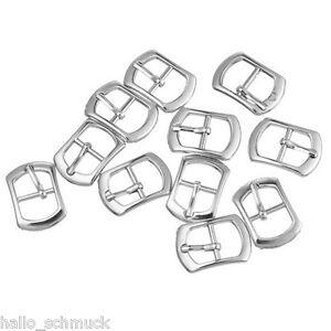30-Metall-Schnallen-Ersatzschnalle-Buckles-fuer-Taschen-Schuhen-Silber-21x15mm