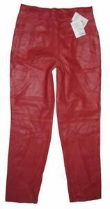 >>> Damen- LEDERJEANS / Lederhose in rot Gr. 40