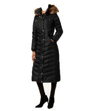 NWT MICHAEL Kors women's Faux Fur Trim Long Maxi Puffer Coat Black (S)