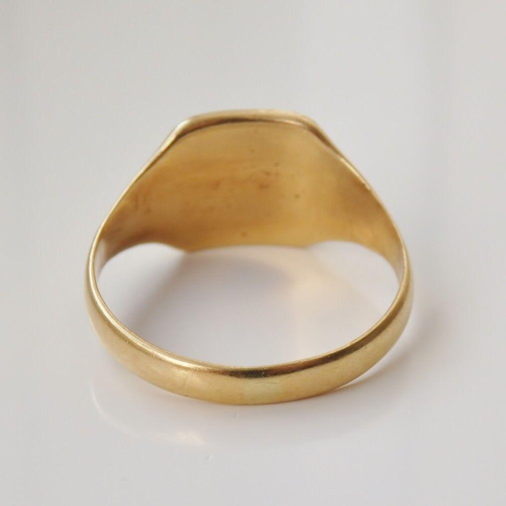 Bell 'antico Periodo edoardiano 18ct oro INTAGLIO INTAGLIO INTAGLIO sigillo di cera Anello Con Sigillo c1910; Taglia  S  652a81