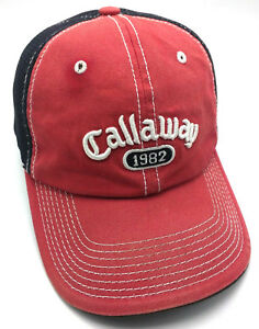 b940d69e8f7 Image is loading CALLAWAY-GOLF-red-black-adjustable-cap-hat-breathable-