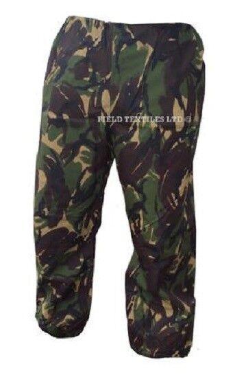 DPM Waterproof Goretex Trousers - Fishing Camping Hiking - Green Camo - Grade 1