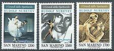 1989 SAN MARINO I GRANDI DELLO SPETTACOLO NUREYEV MNH ** - ED
