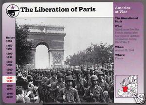 La Liberación De París Francia 1944 Segunda Guerra Mundial Foto Arco Grolier Historia De América Tarjeta Ebay