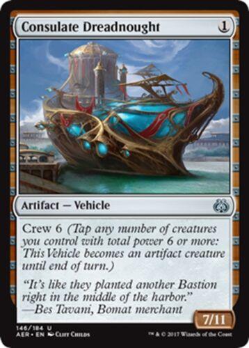 NM//M Aether Revolt MTG Magic - U 4x Consulate Dreadnought x4