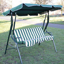 3 Seater Garden Hammock Swing Seat Outdoor Bench Chair Patio Green