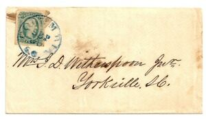 ✔️ CONFEDERATE Civil War COLUMBIA SC Cover JEFFERSON DAVIS STAMP