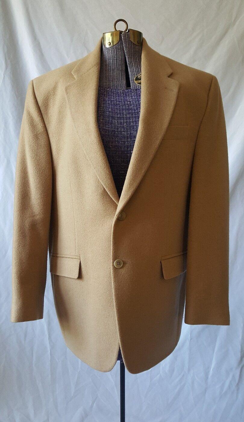 RALPH LAUREN LRL Tan 2-Btn 100% SOFT Camel Hair Sport Coat Blazer Mens 41R Large