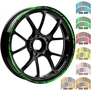 2 Tono Ametista Ruote Moto Cerchione Inner Rim Tape Decalcomanie Adesivi per Kawasaki ZX10R