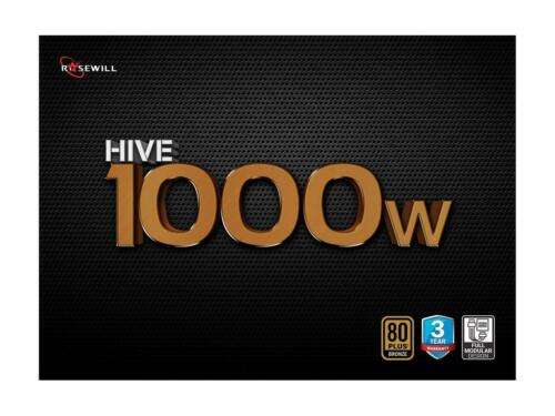 80 PLUS Bronze Certified Rosewill Hive Series 1000W Modular Gaming Power Supply