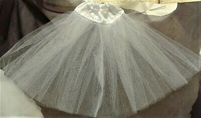 barbie full length petticoat in black 1//6 doll size