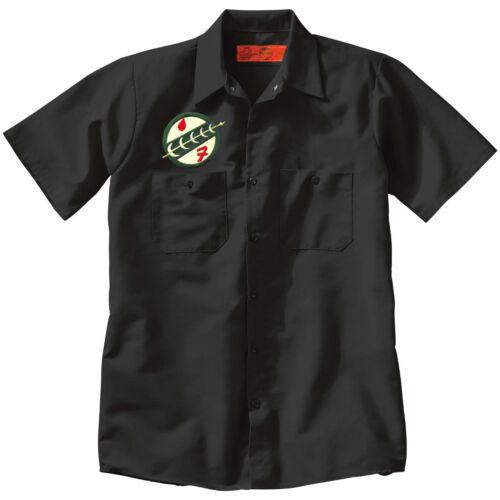 BOBA FETT Mandalorian Crest Star Wars Button Up Mechanic style Work SHIRT Black