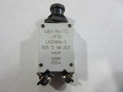 ETA 483-96-TC-K14-5A Circuit Breaker 5A 115VAC 28VDC NEW!! Free Shipping