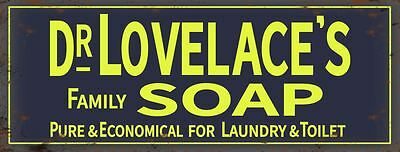 New 40x15cm Dr Lovelace/'s Family Soap Laundry /& Toilet metal advertising sign