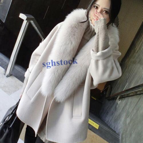 invernali allentati di Cashmere larghi casual Top pelliccia Nuovi Cappotti Lady e cappotti Cappotto larghi SR4Ofnq