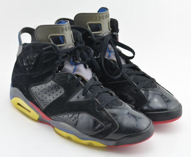 buy popular 01414 bd591 Air Jordan VI 6 Pistons 384664-001 Men Sz 11.5 Black Varsity Red True Blue  Gray