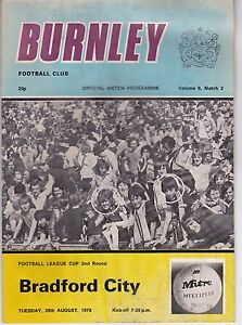 BURNLEY-HOMES-PROGRAMMES-DIVISION-TWO-1978-79-WATER-STAIN-POST-FREE