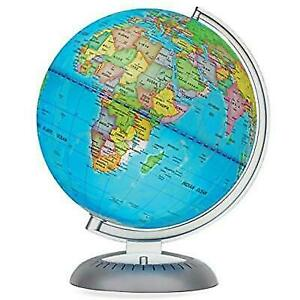 Map Of The World Globe View.Illuminated World Globe For Kids With Stand Built In Led Night View Geography