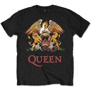 QUEEN-Classic-Crest-Mens-T-Shirt-Unisex-Tee-Official-Licensed-Band-Merch