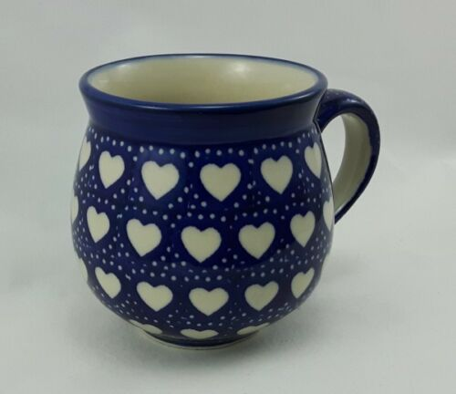 0,3 Liter, Herzen Becher K090-SEM Bunzlauer Keramik Tasse BÖHMISCH