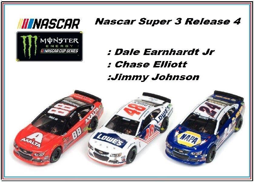 New Auto World R 4 super lll 3 Voiture Nascar Set ho slot cars fonctionne sur Aurora & AFX