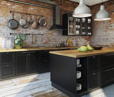 Ikea Laxarby Kitchen Cabinet Doors- Black Brown Sektion | eBay