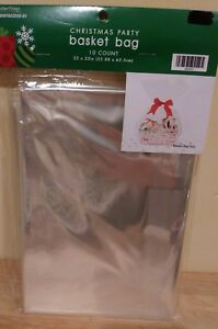 Details About Nip Basket Bags Ten 10 Pack 22 X 25 Inches Clear Cellophane Wrap Christmas