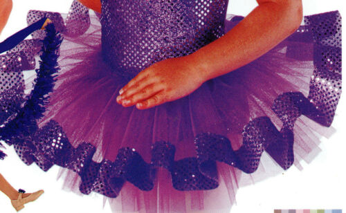 NWOT FAUX SEQUIN TRIMMED TUTUS CHILD SIZES DANCE BATON COLORS GIRLS