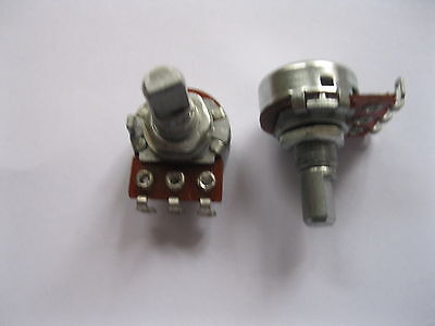 2 pcs C100K Potentiometer Pots 15mm D Shaft 3pin Stepping New