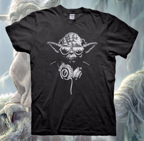 DJ YODA T-Shirt STAR WARS Jedi Darth Vader Poster The Force Awakens Empire Funny