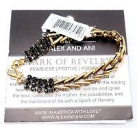 Alex And Ani Vintage Sixty Six Spark Of Revelry Jet Rg Gold Flapper Bracelet