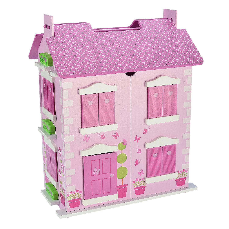 Conjunto de Juego de Madera Casa de Muñecas de Lujo grandes muñecos de 10 piezas que empareja gratis Muebles