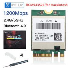 1200Mbps BCM94352Z DW1560 wifi card 802.11AC Bluetooth 4.0 WIFI Card Hackintosh