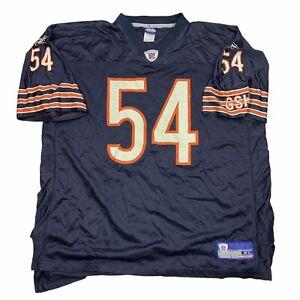 Reebok-Brian-Urlacher-Chicago-Bears-54-Football-Jersey-Men-s-Sz-XL-Navy-Blue