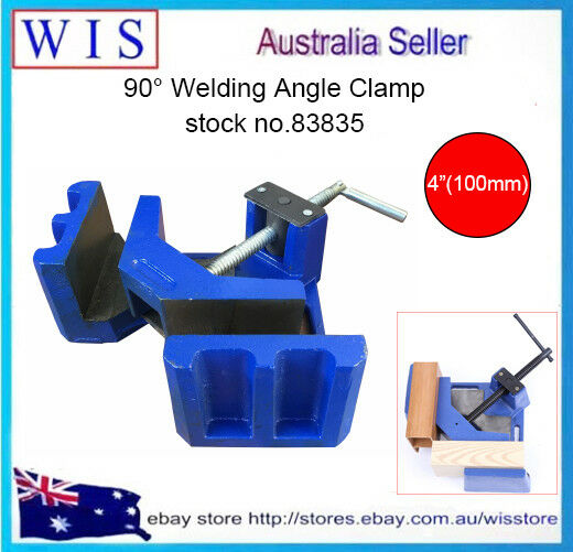 90° Heavy Duty Cast Iron Angle Clamp 4 (100mm)Jaw,Vices Welding Angle Clamp83835
