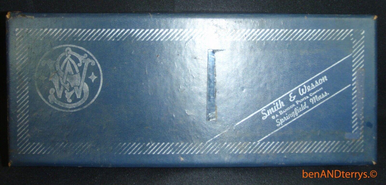 Vintage Smith & Wesson Modelo 10 militar y Police Azul Caja Vacía S&w