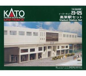 Kato-23-125-Station-Viaduc-Set-Basic-Viaduct-Station-Basic-Set-N