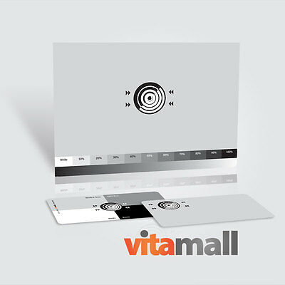 """SET OF 18% NEUTRAL DIGITAL GRAY CARDS (FOR WHITE BALANCE). Size 4.25x6"""" & 2x3.5"""""""