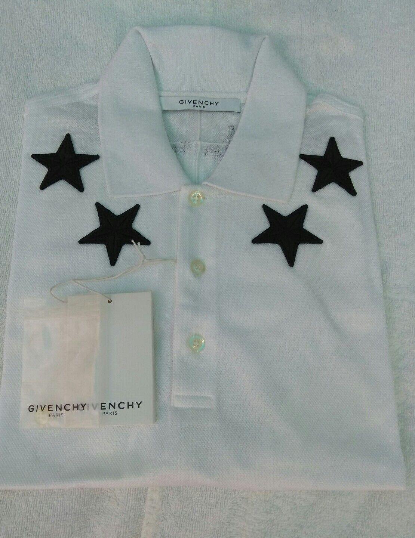 Givenchy Casual Cuban Star Polo Shirt Weiß Cotton Größe 2XL