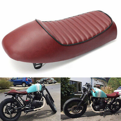 Vintage Coffee Saddle Hump Cafe Racer Seat Pad Cushion Modified Parts For Honda