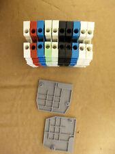 Entrelec Terminal Blocks M4/6 5116 Lot of 10 assorted colors