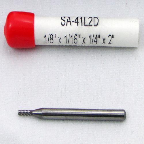 1//8 x 1//16 x 1//4 x 2 Double Cut Cylindrical Carbide Burr SA-41L2D