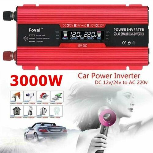 10000W Reiner Wechselrichter Inverter LCD Spannungswandler AC 12V auf DC 220V B