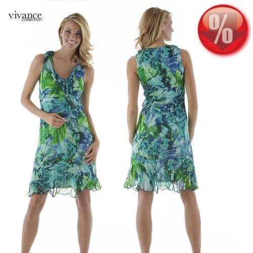 KP 59,99 € /%SALE/% Druckkleid-Kleid aqua-bunt VIVANCE NEU!!