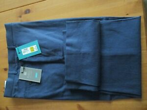 BNWT-Marks-amp-Spencer-Mens-Linen-Cotton-Trousers-Blue-W38-Leg-33