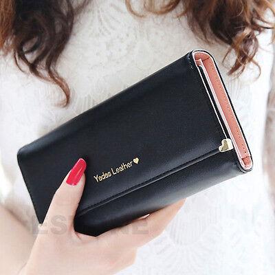 2015 New Fashion Lady Women Purse Long Wallet Bags PU Handbags Card Holder Gift