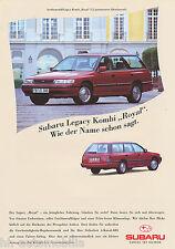 Subaru Legacy Kombi Royal 2.2 Prospekt 9 93 1 Bl brochure 1993 Auto PKWs Japan