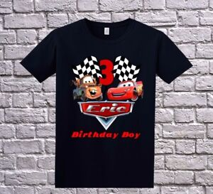 Image Is Loading Cars Custom Birthday Shirt Personalized T