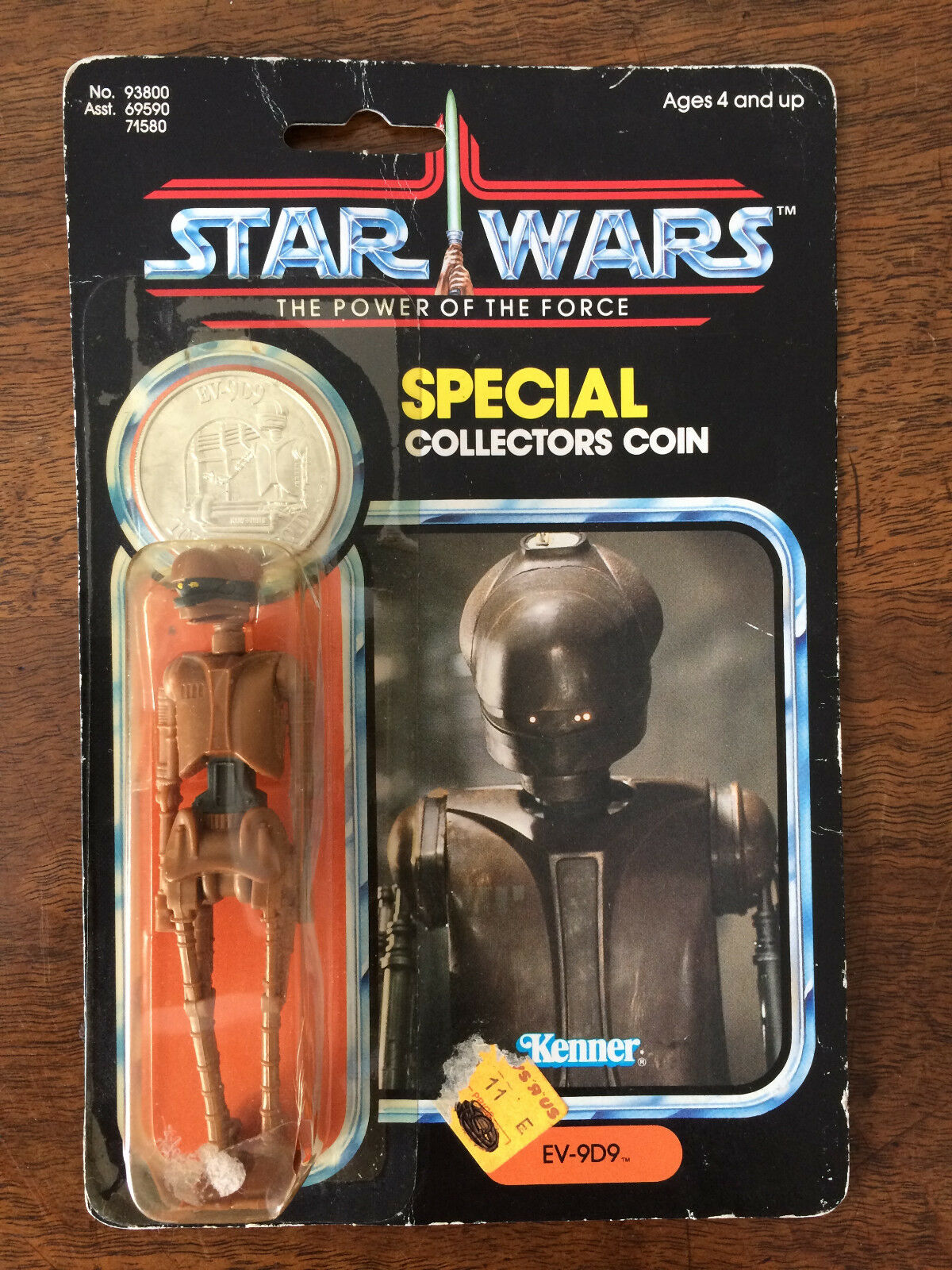 STAR WARS THE POWER OF THE FORCE FIGURINE EV-9D9 BLISTER COLLECTOR COIN 1984